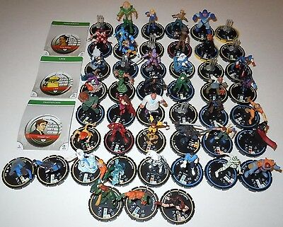 Heroclix Collection Lot 50 Figures Marvel DC Indy ALL DIFFERENT REV Bystander