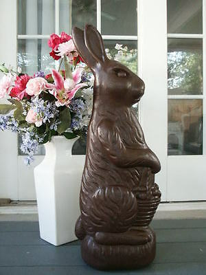 1993 Don Featherstone Chocolate Blow Mold Easter Bunny Rabbit Large 30""