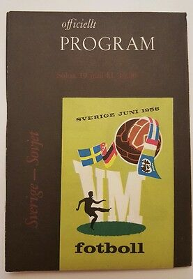 WORLD CUP 1958 - SWEDEN v U.S.S.R ( Sverige v Sovjet )  19th June