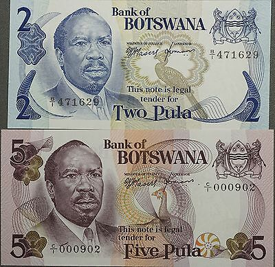 1979 Botswana 2 & 5 Pula Business Issue - Uncirculated