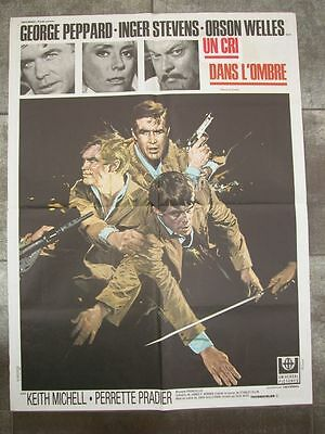 UN CRI DANS L'OMBRE George Peppard 1968 Affiche Originale 60x80 Movie Poster