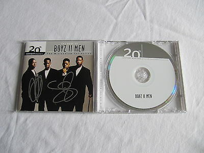 Boyz Ii Men Signed Autographed Cd Cover The Best Of In-Person Authentic