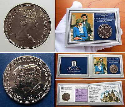1981 Charles and Diana Royal Wedding C/N Crown - Cat. SP# 4229 / KM# 925