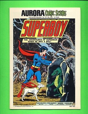 1974 AURORA COMIC SCENES Original SUPERBOY Comic Book w/ BACKGROUND DIORAMA