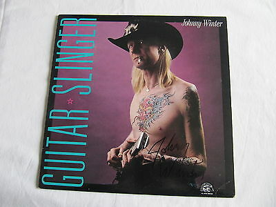 Johnny Winter Signed Autographed Guitar Slinger Lp Cover Record In-Person Rare!