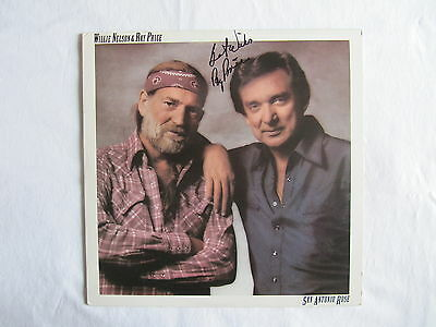Ray Price Signed Autographed San Antonio Rose Willie Nelson Lp Record Authentic