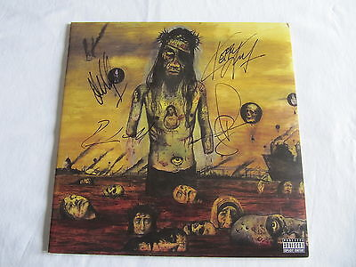 Slayer Signed Autographed Lp Cover Record Vinyl Christ Illusion Authentic Rare!