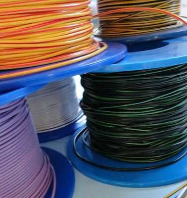 12v Cable 20m Car Automotive Electrical Wiring 1.0mm² 70 COLOUR COMBINATIONS