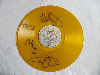 STYX PIECES OF EIGHT YELLOW VINYL RECORD SIGNED DENNIS DeYOUNG TOMMY SHAW RARE!