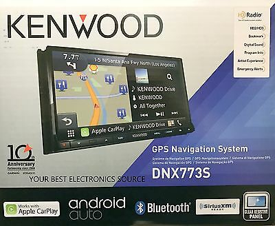"NEW Kenwood DNX773S 2-DIN Navigation DVD/CD/AM/FM Car Stereo 6.95"" Touch Screen"