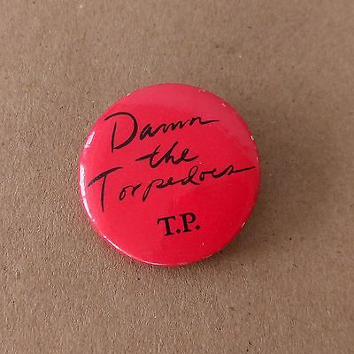 Tom Petty Damn the Torpedoes Pin Button Vintage