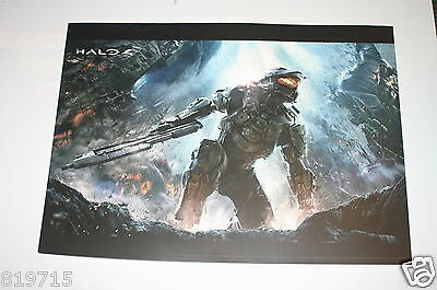 Halo 4 Promo Poster On Light Card 33Cmx24Cm From French Games Shop