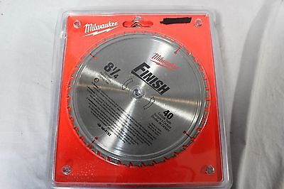Milwaukee 48-40-4152 8-1/4 in. 40 Carbide Tooth Finish Circular Saw Blade