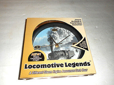 Train Wall Clock Locomotive Legends Different Train Sounds Each Hour, In Box