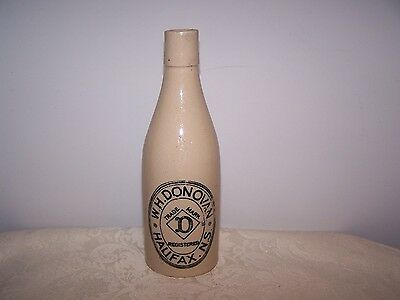W.h. Donovan  - Halifax N.s. - Nova Scotia - Ginger  Beer Crock Bottle