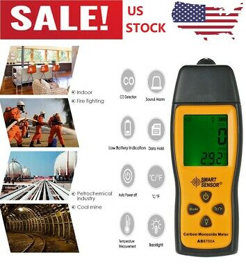 Handheld Carbon Monoxide Meter CO Gas Tester Monitor Detector Gauge 1000ppm