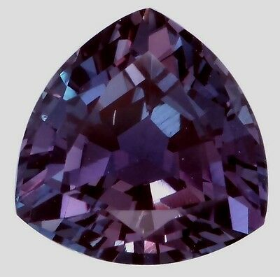 Lab-grown Trillion Created Alexandrite (true Alexandrite, not fake sapphire)