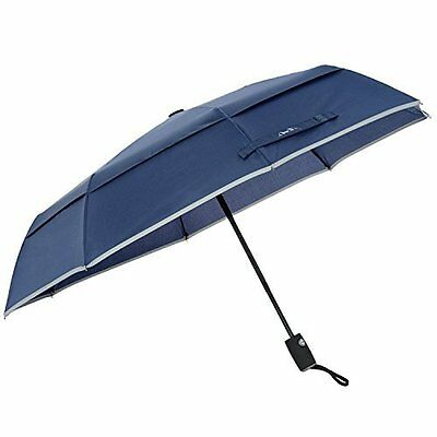 Arcadia Outdoors Vented Double Canopy Wind Resistant Umbrella - Navy Blue