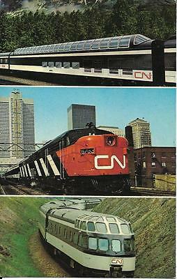 Observation Dome Car on Canadian National's Transcontinental Service, postcard