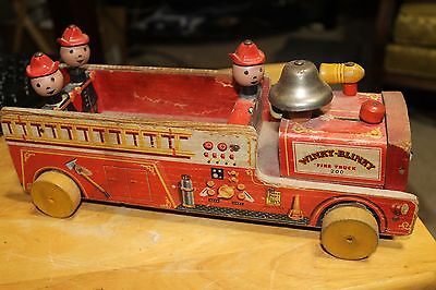 Vintage Fisher Price Winky Blinky Fire Truck  #200 1950's