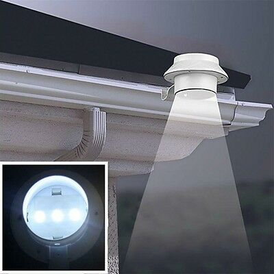 Solar Power Powered Outdoor Garden Light Gutter Fence LED Wall With Bracket New