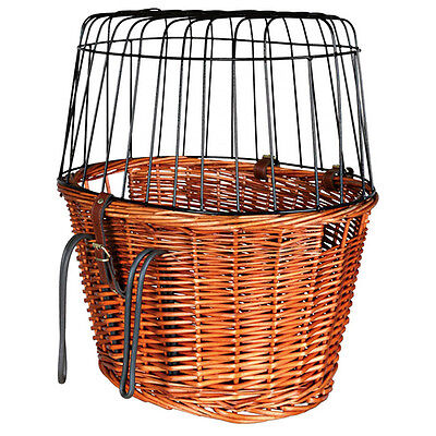 Trixie Bicycle basket with grid nature, 44 x 48 x 33 cm, NEW