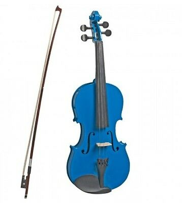 VALENTI - 1/2 size violin outfit. Case, bow, rosin included. Metallic Blue.