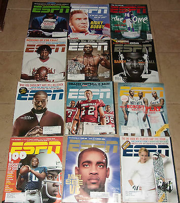 Lot of 12 ESPN Magazines from the 2000's