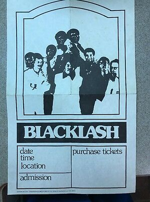 Funk R&B Vintage Poster Concert For BLACKLASH Black Power 70s Gaimesville FL