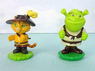 Cute SHREK the OGRE and PUSS IN BOOTS Mini Figures