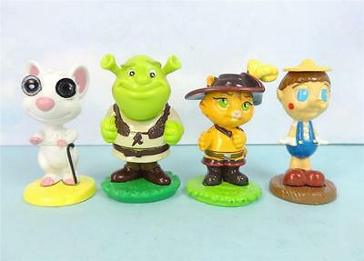 SHREK the OGRE, BLIND MOUSE, PUSS IN BOOTS and PINOCCHIO Mini Figures