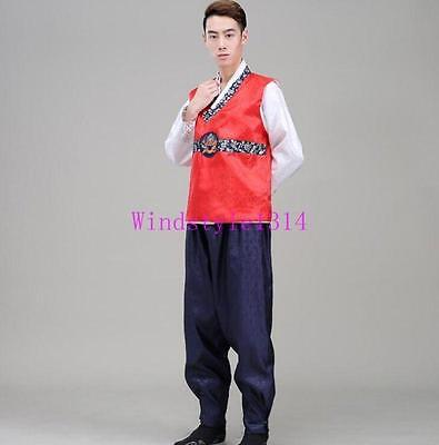 Mens Hanbok Traditional Clothing Korean National Costumes Court New Asian Size L