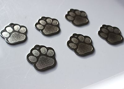 Pet Tags Paw (1 Inch) Id Stainless Steel 2 Side Diamond Engrave Dog Cat Name Tag