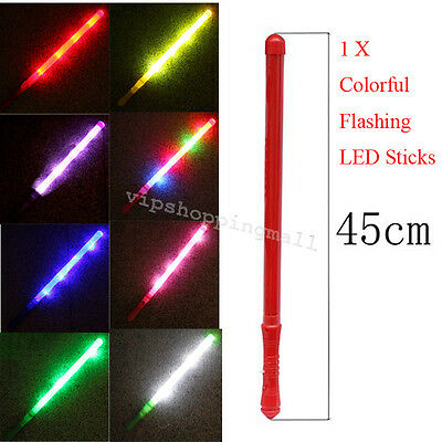 Colorful Flashing LED 48cm Light-Up Glow Stick Party Festival Concert Supplies