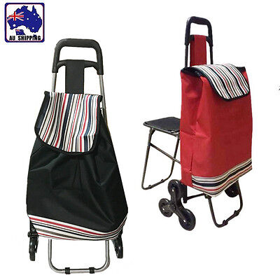 Shopping Trolley Cart with/without Seat Bag Basket Wheels Collapsible CTOC320