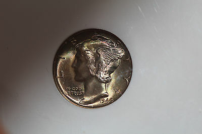 1940-S Mercury Dime - NGC MS66 * (STAR) Magnificent 2-Sided Color Toned!