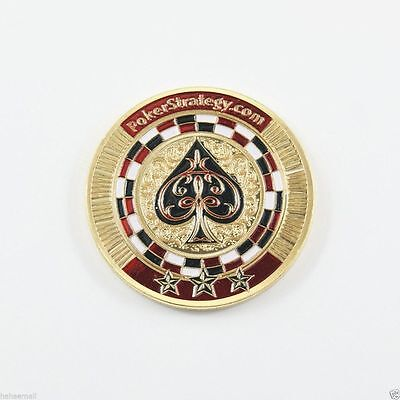 Casino Metal Chip Coin Skull Poker Card Guard Protector Lucky Souvenir Model 13