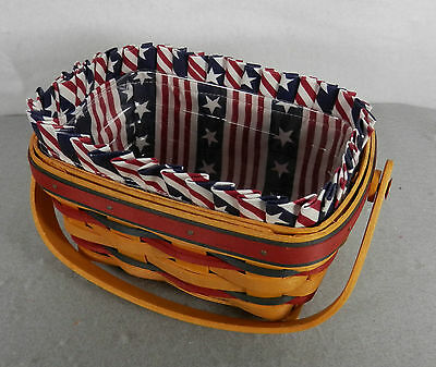 Longaberger 1997 All-American Patriot Basket Set with Regular Protector