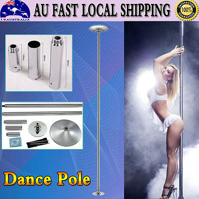 A Pole Portable Practise Spinning Home Gym Dancing Fitness + 2Pcs Extensions New