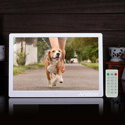 "15.6"" HD LED Digital Photo Frame Picture Movie Player with Remote Control X1V8"