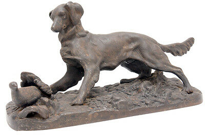 OLD SOVIET RUSSIAN CAST IRON Hunting Setter Partridge 1959 High Quality figurine