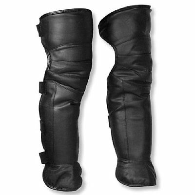 Boot Legging Gaiters Leg Cover Climbing Hiking Snow Ski Warm Leather Faux Fur US