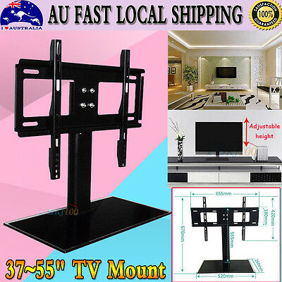 32''-55'' TV Stand Universal LCD LED Table Bracket Floor With Adjustable Height