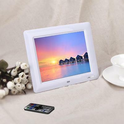 """7"""" HD LCD Digital Photo Frame Picture Clock Movie Player + Remote Contorl White"""