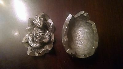 "1992 Rawcliffe Pewter Baby Dragon in Egg Figurine 1 3/4"" Wide AD&D Fantasy"