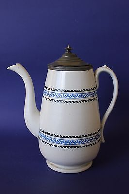 Antique Coffee pot with pewter lid.