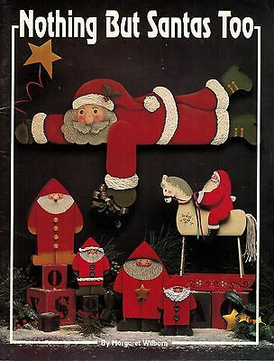 Tole Decorative Painting Nothing But Santas Too Christmas Margaret Wilburn Book