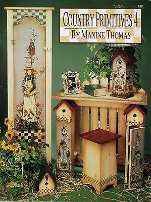 TOLE DECORATIVE PAINTING COUNTRY PRIMITIVES #4 Maxine Thomas PATTERNS BOOK