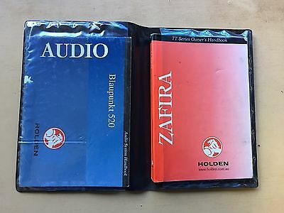 Holden Zafira 2001 owners manual