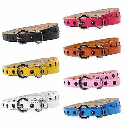 Toddler Baby Kids Boys Girls Adjustable PU Leather Belt Waistband Candy Colors